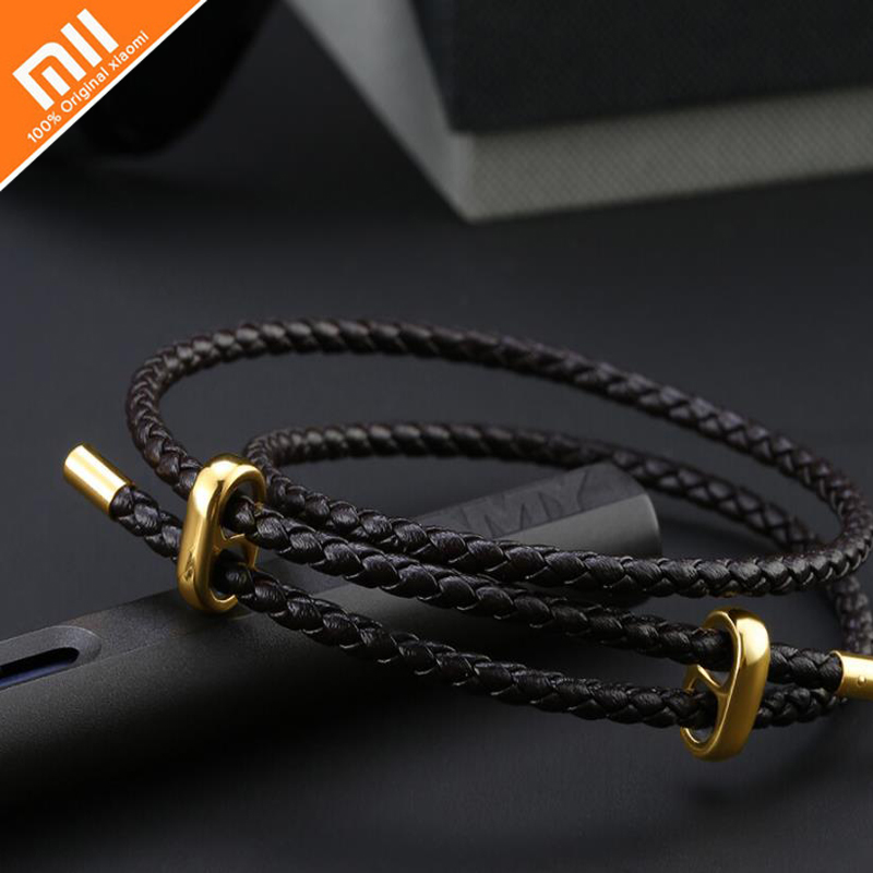 Original Xiaomi Mijia LUCKYME Wild Leather Leather Rope Pull Bracelet 25cm 44cm Men And Women Bracelet High Quality