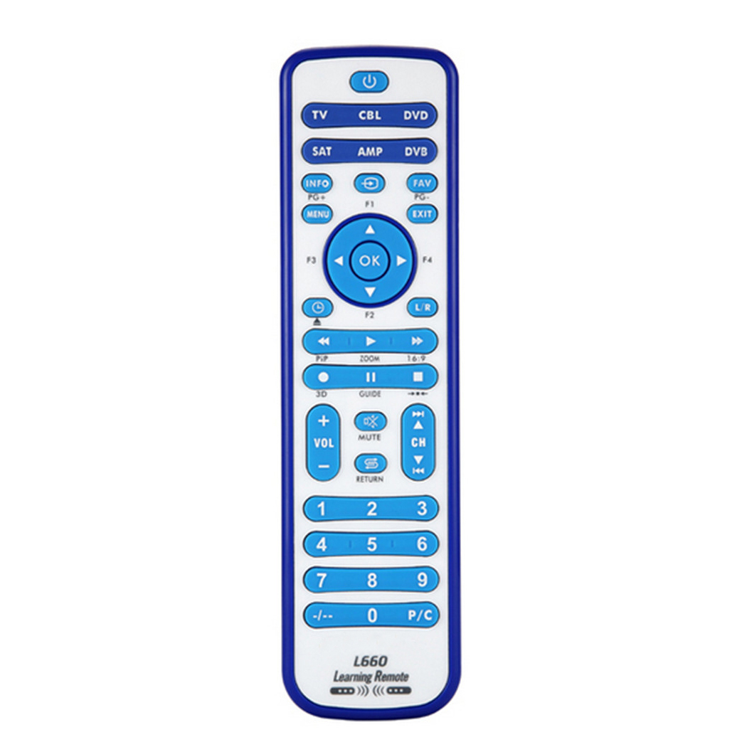 Top Deals copy Combinational Universal Learning Remote Control For TV/SAT/DVD/CBL/DVB-T/AUX 3D SMART TV CE 1PCS L660 1pcs chunghop rm l987e tv sat dvd cbl cd ac vcr smart tv 3d universal remote control learning equipment with lcd display