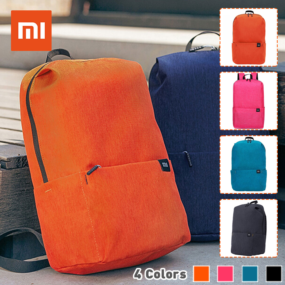 XIAOMI Mini Backpack Bag 10L School Bags For Women Men Boy Girl Daypack Water Resistant Lightweight Portable Casual Travel Bag
