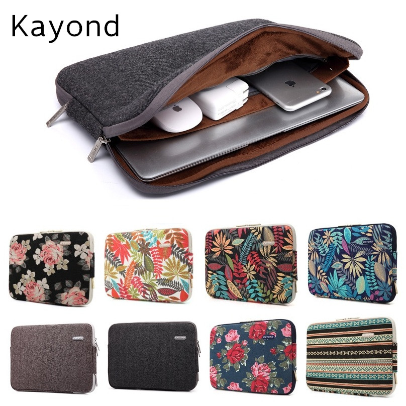 2017 New Brand Kayond Sleeve Case For Laptop 11,13,14,15,15.6 inch Notebook Bag For MacBook Air Pro 13.3,Free Drop Shipping hot pu leather sleeve case for macbook air 11 air 13 retina 13 3 inch pro 15 4 envelope bag wholesales free drop shipping