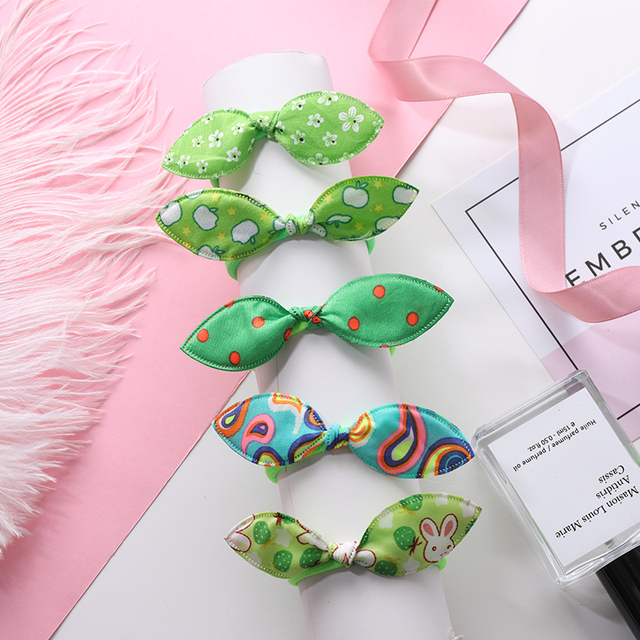 New 5PCS/Lot Fashion Rabbit Elastic Hair Bands Hair Accessories For Girls Cute Ponytail Holder Rubber Bands Children Scrunchies
