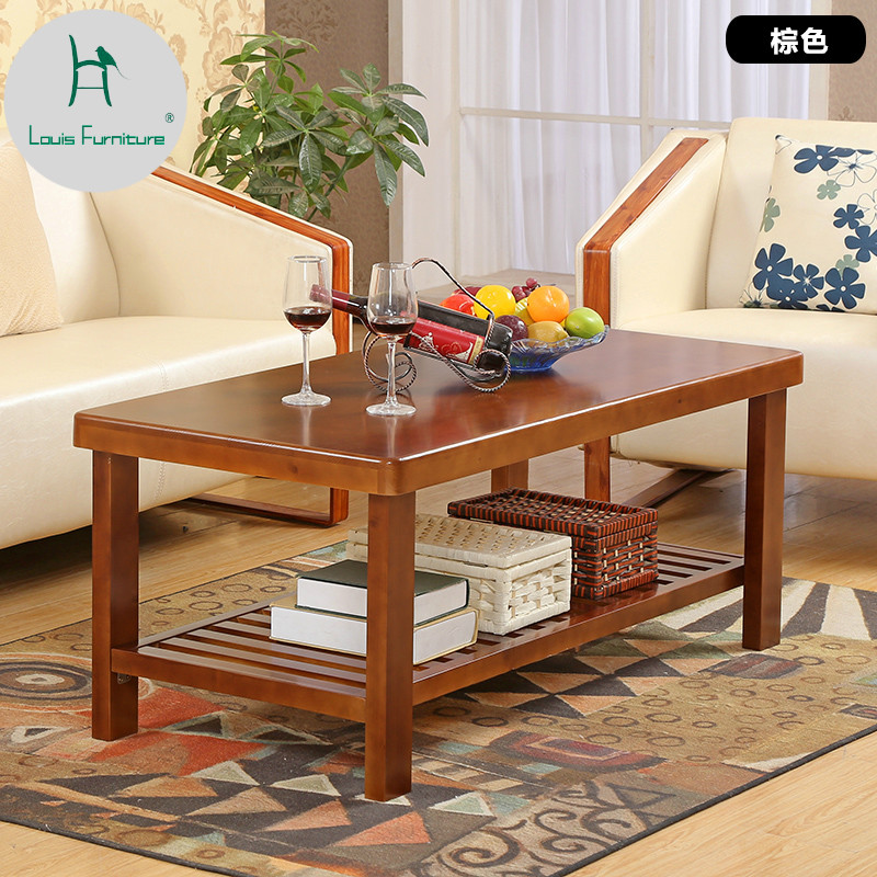 Louis Fashion Modern Solid Wood Coffee Table Pinewood Tea Pure Simple Living Room Side A Few Coffee Tables Aliexpress