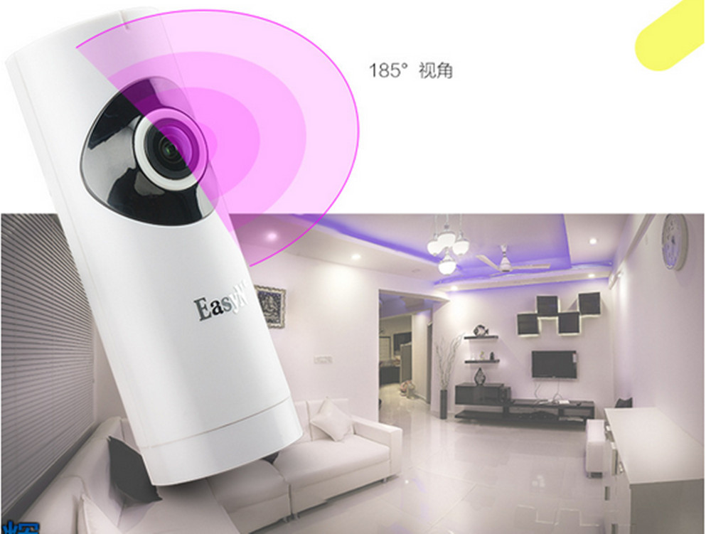 185 Degree Fish Eyes Wide Angle HD 720P Wireless Intercom IP Camera Support 128G TF Card Storage185 Degree Fish Eyes Wide Angle HD 720P Wireless Intercom IP Camera Support 128G TF Card Storage