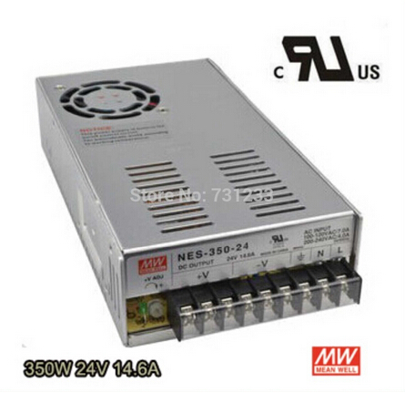 2pcs/lot Switching Power Supply 350W 24V 14.6A Single Output NES-350-24 for Embroidery Engraver Printer Plasma CNC Router Kits