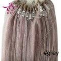 """Barato del pelo del Lazo 100 S 16 """"18"""" 20 """"22"""" 24 """"26"""" remy pelo gris 0.4g0.5g0.7g extensión del pelo humano #60 Bleach rubia brasileña virginal del pelo"""
