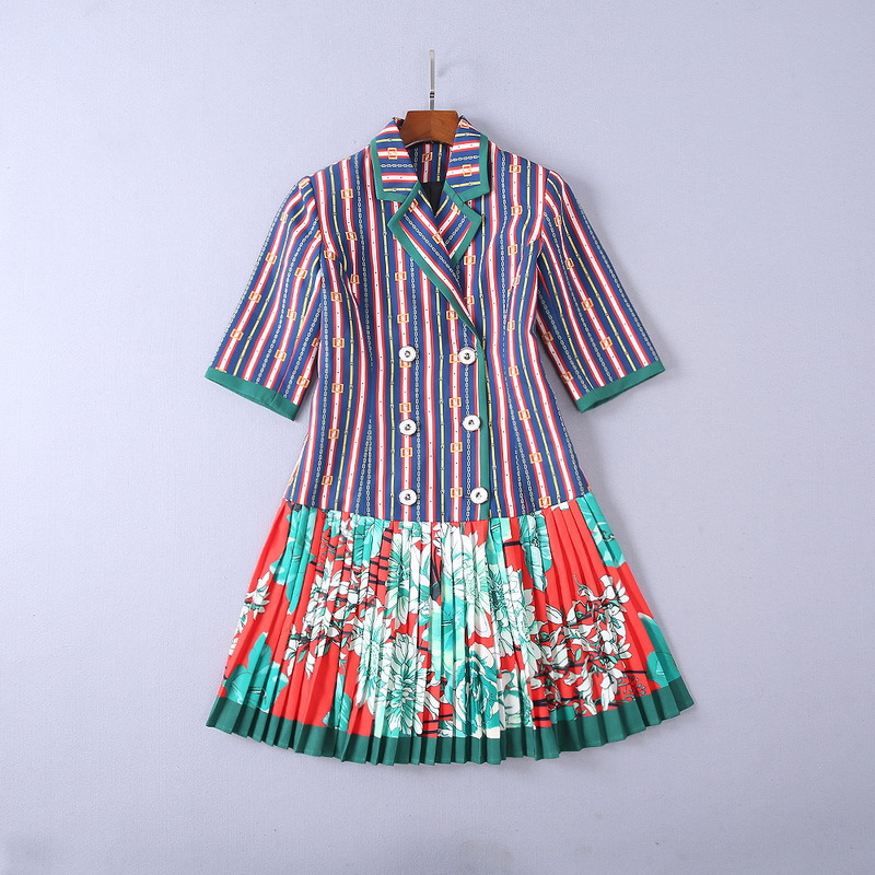 fffac2d8bfd Cha-ne-Fleur-Imprim-Mode-Femmes-Pliss-Robes -Automne-Turn-Down-Col-Manches-Courtes-Vintage-Piste.jpg