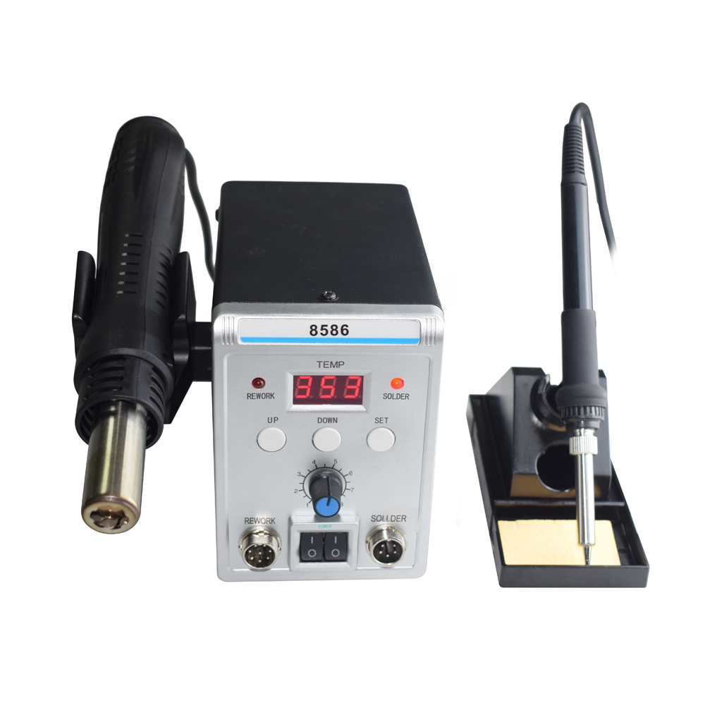 Lead Free Digital Soldering Station with Hot Air Gun for Repairing Chip of Electronic Instruments 8