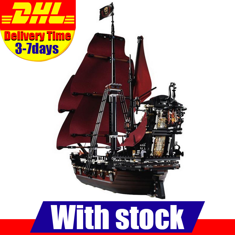 Moc LEPIN 16009 1151Pcs Pirates Of The Caribbean Queen Anne's Reveage Model Building Kits Set Blocks Brick Toys Gift 4195