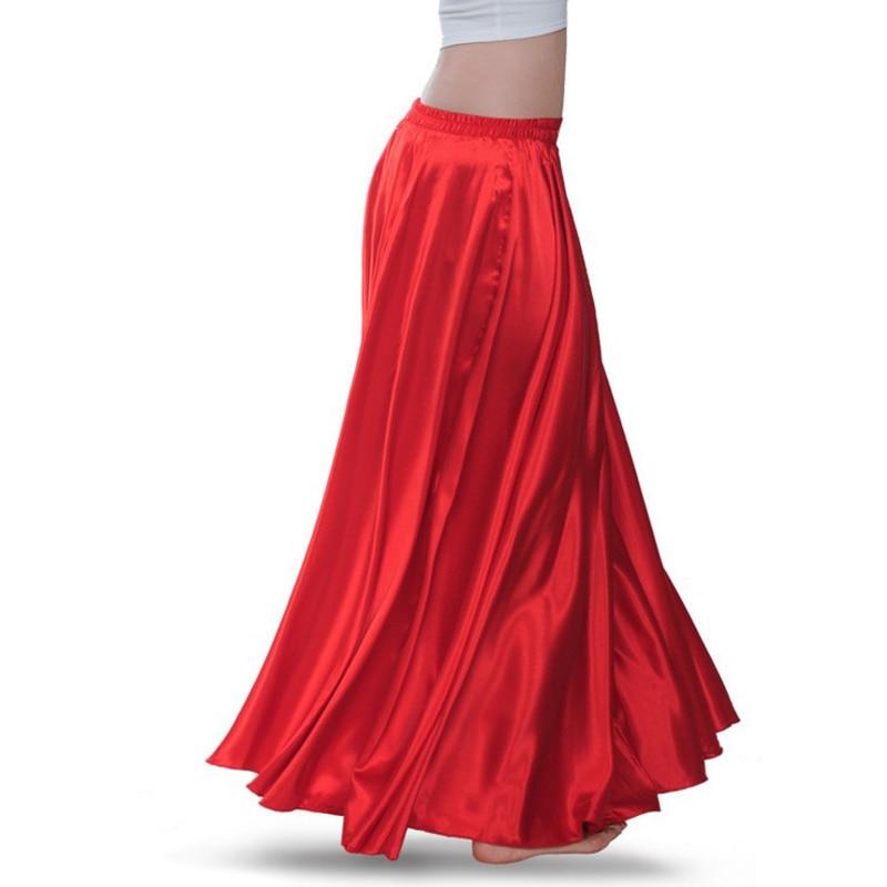 Hem 360 540 720 Spring Summer Silk Long Skirts Casual Retro Black Red Chiffon Pleated Silk Satin Female Maxi Long Skirts Women