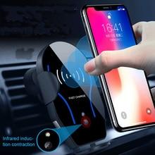 XN212 تشى شاحن لاسلكي تنفيس الهواء حامل هاتف السيارة 2 في 1 7.5 واط 5 واط شحن الوسادة للهواتف الذكية تشى تمكين حامل سيارة عالمية