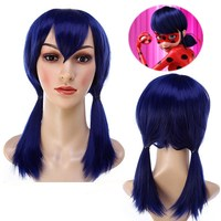 Free Shipping Miraculous Ladybug Cosplay Wig Halloween Play Wig Party Stage High Quality Hair For Women
