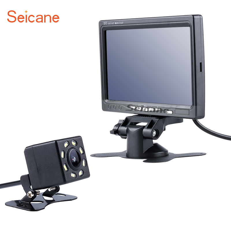 Seicane Universal HD 1024*600 Car Auto Parking Monitor Rearview Camera Reverse System Backup Digital Video Recoder DVR TFT LCD