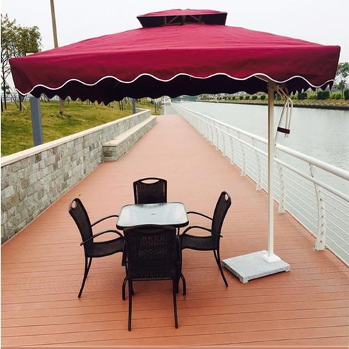 Outdoor Patio Furniture Parasol 2 M Banana Umbrella Beach Celi Security  Guard Post Outside The Property