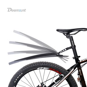 Image 4 - Deemount 1 Pair New Bicycle Mudguard Mountain 26 27.5 29 inch Bike Mud Wings Front/Rear Fender Quick Mount 27.2 34.9mm Seatpost