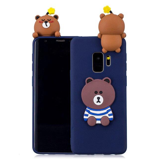 pretty nice 64bbc e2573 3D Line Friends Brown Cases For Samsung Note8 S9 S8 S7 S6 Edge Plus