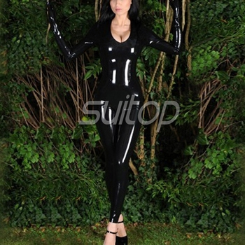 100% handmade nature latex catsuit sexy corset for woman latex sexy leotard jumpsuit SUITOP for girls