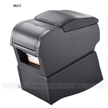 Gratis Punch Houten Pu Leer Speciale Auto Armsteun Box Met 4 USB Gat Voor MG3 Multifunctionele Auto Hand Doos