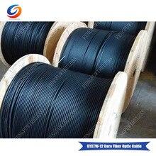 Высокое качество 500 м/рулон GYXTW 12 ядро Центральная свободная трубка одномодовый волоконно-оптический кабель, PE оболочка Открытый кабель