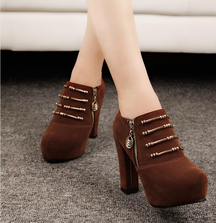 Alto Casuales A067 10 Alto 2018 Cm Zapatos Tacón Black 5 Verano De Botas Nuevos brown Para Mujer Botines w1CvxP