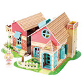 Cubicfun 3D Puzzle DIY Paper Model Building, P615 Dollhouse Garden Villa Puzzle 3D Handmade Lovely Toys For Kids Christmas Gifts