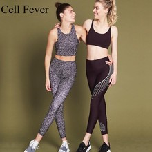 Tracksuit For Women 2 Piece Yoga Set Sports Suit Fitness Gym Clothing Sports Bra Leggings Dot Print Workout Running Sport Wear women reflective tracksuit patchwork yoga set woman sleeveless workout fitness gym clothing 2019 sport bra pant suits 2 piece