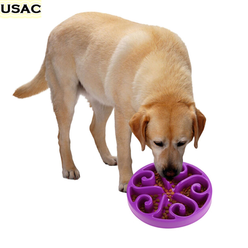 Anti Choke Pet Dog Bowl Slow Eating Pet Bowl Healthy Prevent Choking Gluttony Obesity Puzzle Feeder Comedero Perro Plegable 2