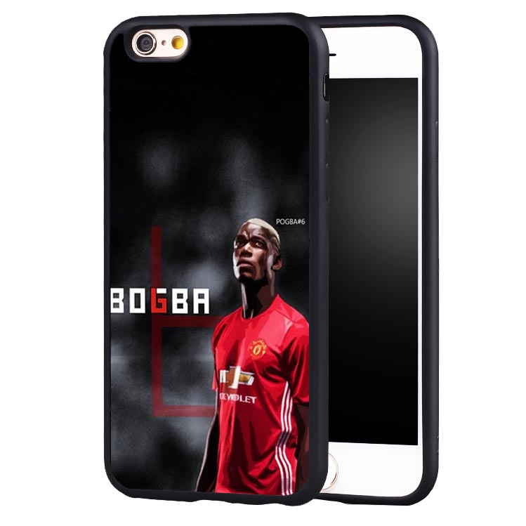 Paul Pogba Football Soccer Soft Silicone Full Protective case Cover For iPhone X 8 7 7Plus 6 6S Plus 5 5S SE