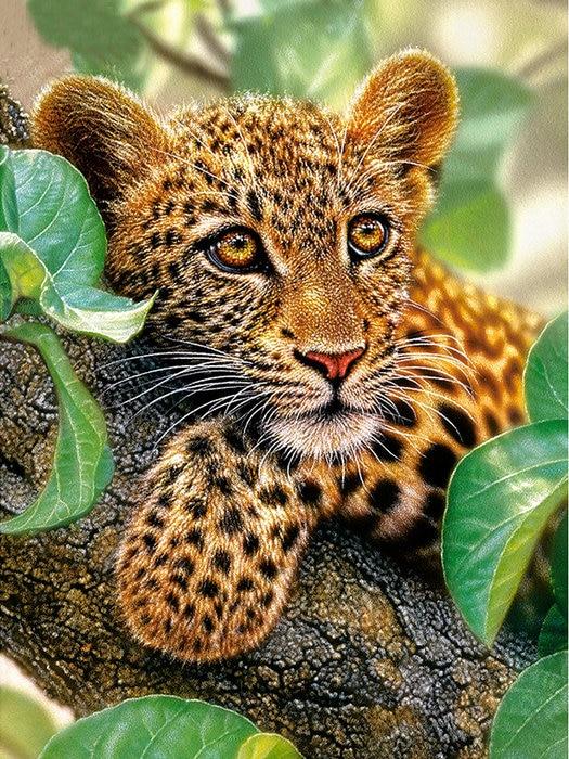 Diamond embroidery leopard 5d diamond painting cross stitch kits Full round rhinestones diy diamond mosaic animal room decor
