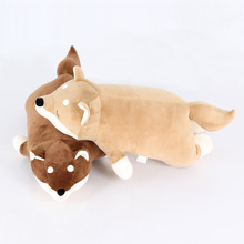 Cute Cartoon Pillow Japanese Style Shiba Inu Dog Modelling Decorative Travel Pillows Bedding Comfortable Soft Back Cushion