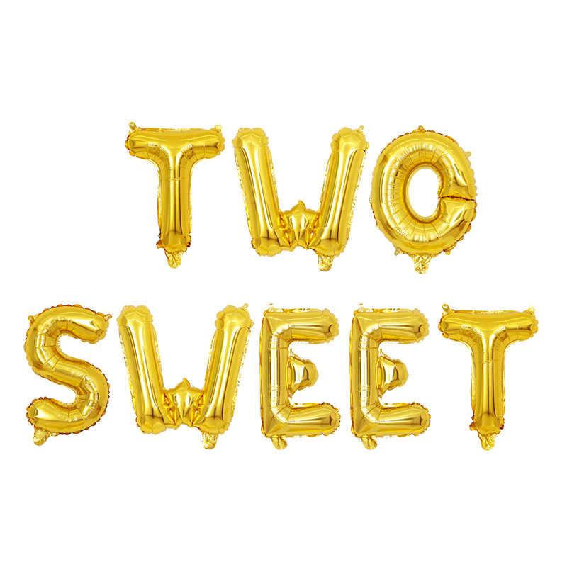 1 Juego de 16 pulgadas oro rosa dos letras dulces globos de papel Donut globo para baby shower 2 ° cumpleaños fiesta Decoración fiesta proveedor