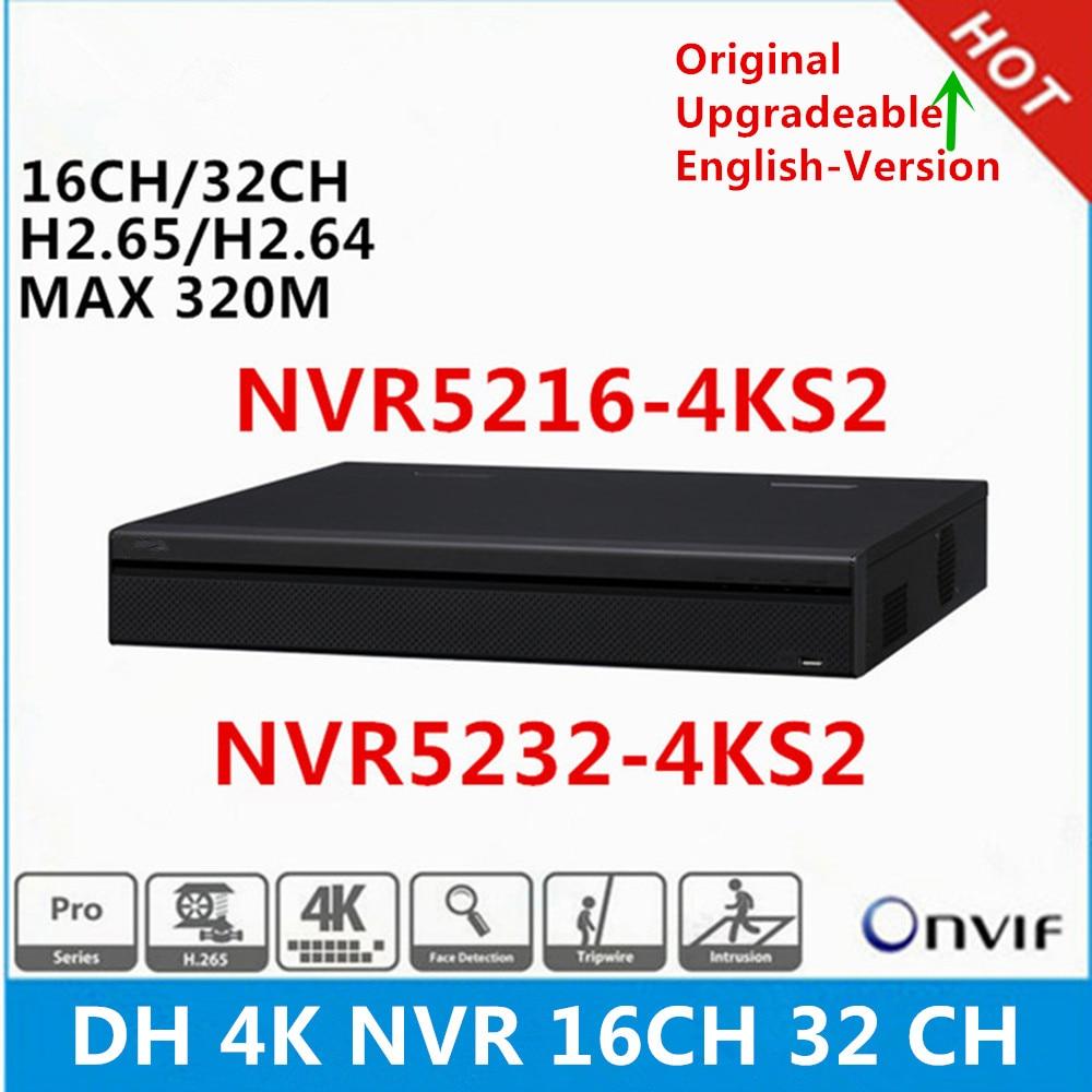 Original DH English version NVR5216 4KS2 16ch NVR5232 4KS2 32ch 1U Network Video Recorder without PoE