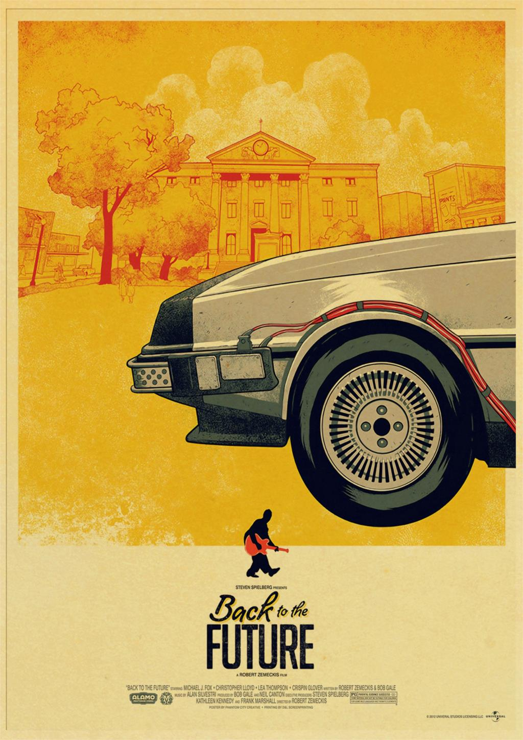 HTB1MYXJOXYqK1RjSZLeq6zXppXaY Classic Movie Back To The Future Vintage Posters For Home/Bar/Living Decor kraft Paper high quality poster wall sticker