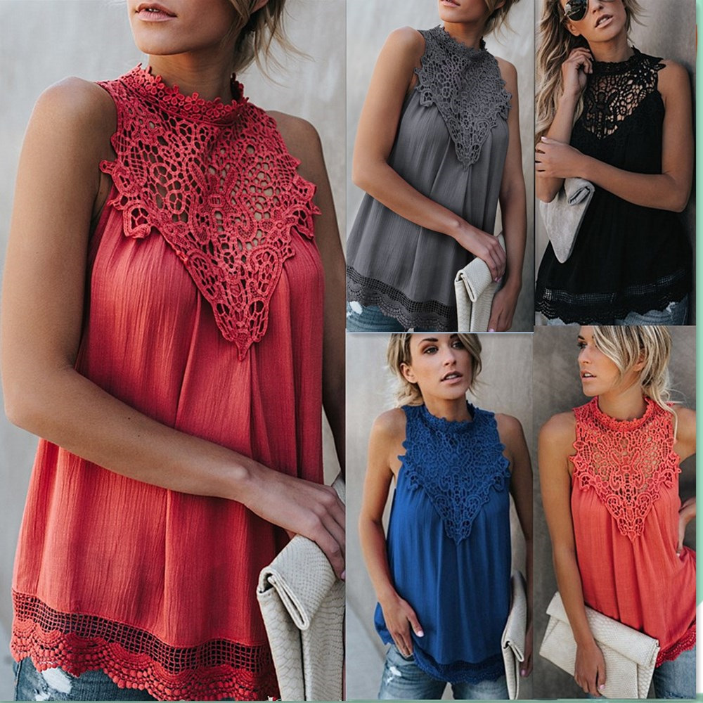women blouse fashion vintage female womens top shirt lace hollow out flower ladies clothing top