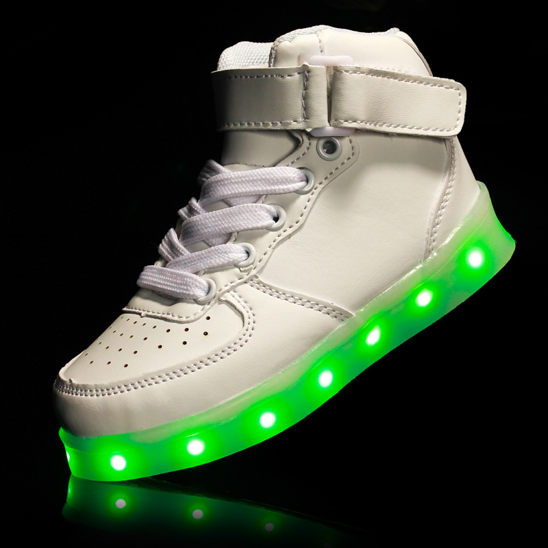 Led Children Shoes Luminous Light Up Usb Charging Kids Casual Boys&Girls Luminous Sneakers Kids Shoes Enfant tenis masculino 25 40 size usb charging basket led children shoes with light up kids casual boys