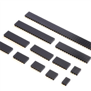 Pitch 2.54mm Pin Stright Female Single Row Pin Header Strip PCB Connector 2/3/4/5/6/7/8/9/10/11/12/13/14/15/16/20/40 Pin