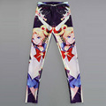 NEW 3417 sexy girl women Cartoon Sailor Moon Stick 3D prints polyester elastic fitness Women leggings pants Plus size
