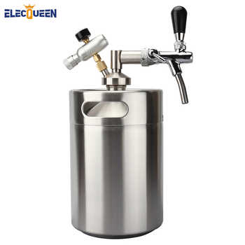 Stainless Steel 5L Mini Beer keg Growler With Adjustable Tap Faucet and CO2 Injector Premium - DISCOUNT ITEM  21% OFF All Category