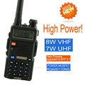 baofeng pofung uv 5R высокомощная версия UV-8HX, 1/4/8Вт тройная мощность vhf любительская рация двойного диапазона с возможностью разговора во время ходьбы