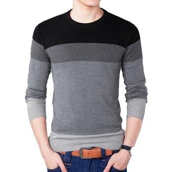 491b295561f69 Осень модный бренд свитер для повседневной носки с круглым вырезом Мужской  пуловер Для мужчин свитера пуловеры Для мужчин тянуть Homme контра.