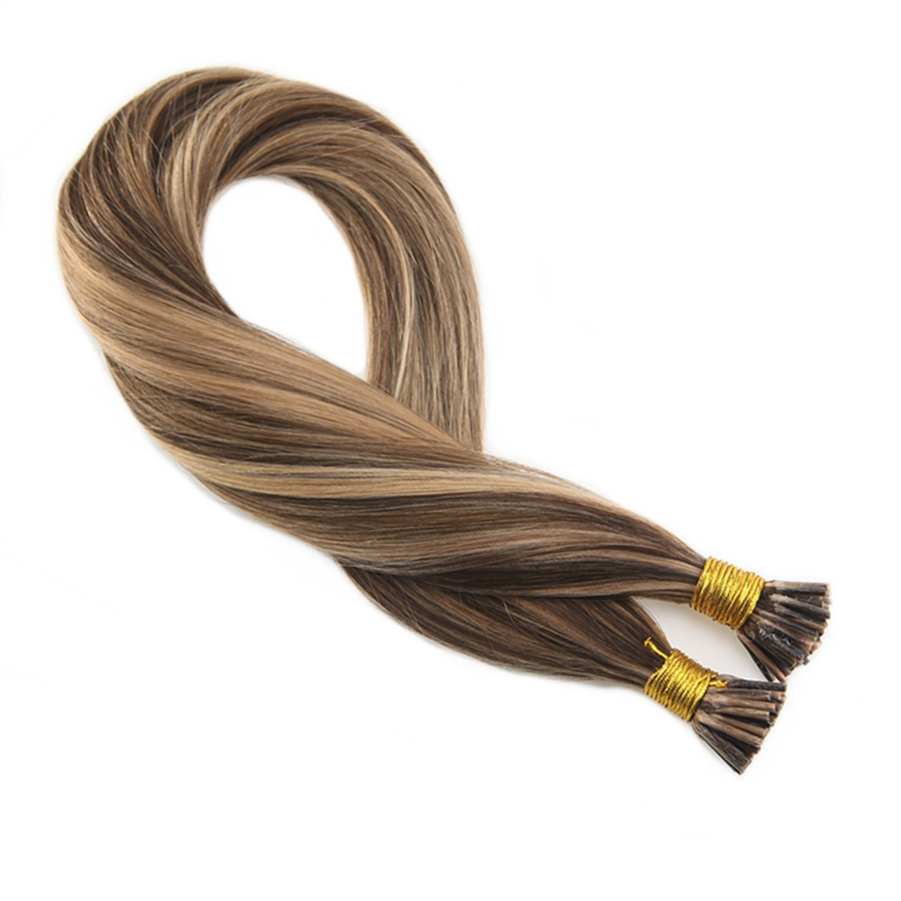 Haarverlängerungen I Tip Preiswert Kaufen Moresoo Spitze Ich Haar Extensions #4 Highlights Mit #27 50 Gr/satz 1g/1 S Keratin Ich Spitze Haar Extensions 100 Remy Haar Extensions