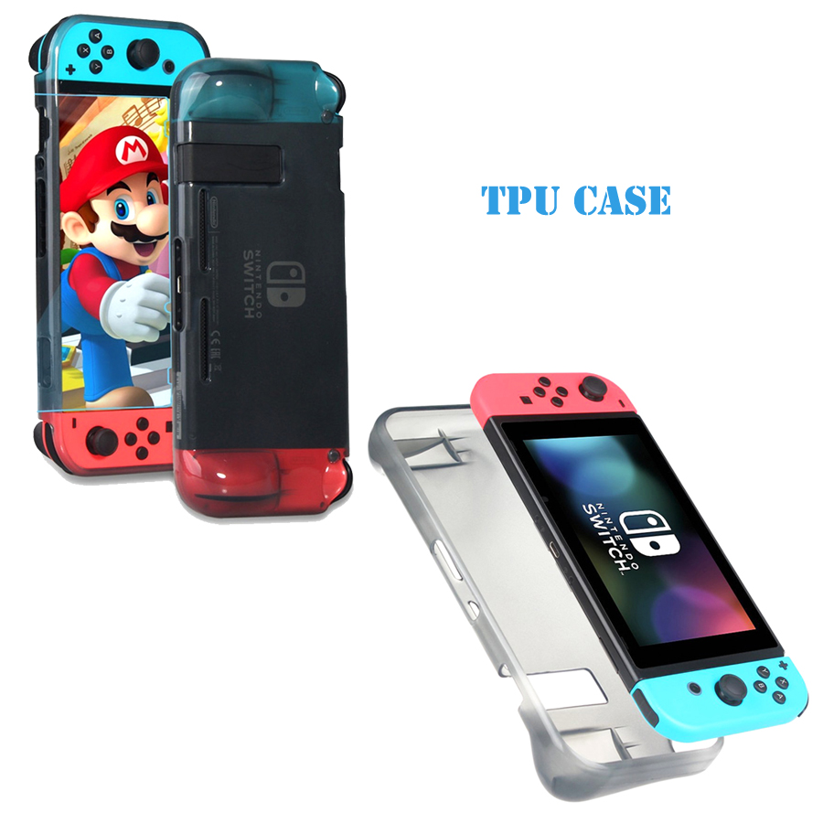 High-quality Protective Cover Gray Transparent Silicone Protective case for NS Nintend Switch
