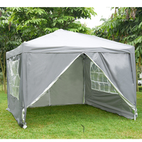 Waterproof 3x3m Pop Up Gazebo Marquee Garden Awning Party Tent Canopy Easy Set up with Carrier Bag