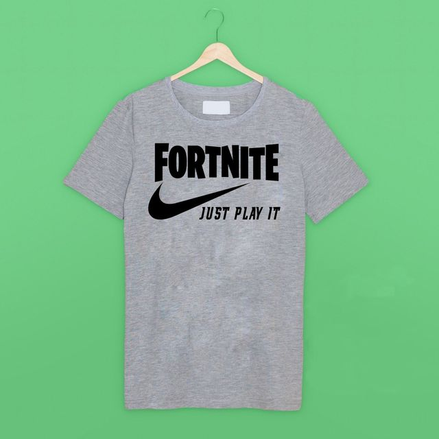 Fortnite Just Play It Funny Gamer T Shirt T Shirt Brand 2018 Male