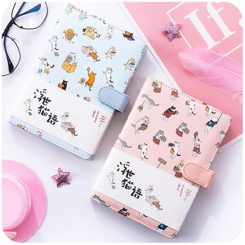 Kawaii Kitty Cute Notebook Cat Planner Scrapbook NotePad Soft Cover Diary School Supplies Agenda 2019 Bullet Journal Accessories