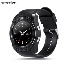 Warden High-quality Sport Watch Full Screen Smart Watch V8 For Android Match Smartphone Support TF SIM Card Bluetooth Smartwatch