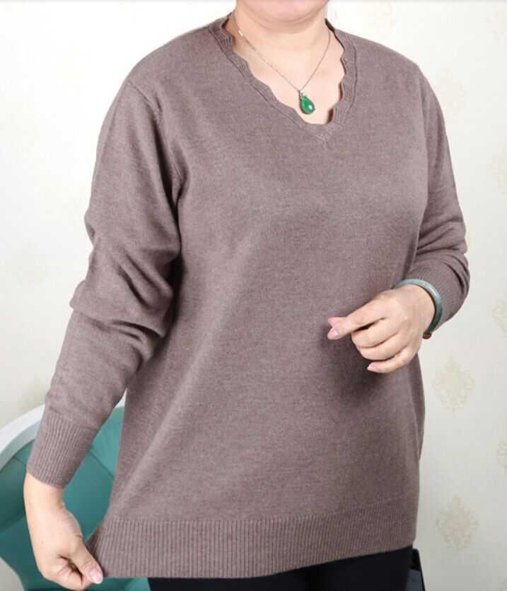 Plus la taille femmes vêtements 5XL 6XL7XL 8XL 9XL Grande taille d'âge moyen vêtements mère pull en cachemire tricoté chemise manches