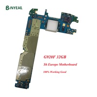 BINYEAE Original Main Motherboard Replacement For Samsung Galaxy S6 G920F Android 7.0 Unlock Euopre logic Board Plate Card