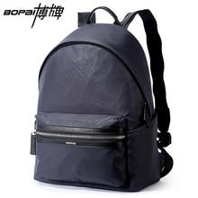 BOPAI Waterproof College Backpacks Blue Black 2 Colors Optional Student Backpack 14 Inch Laptop Backpack Bags for Men School Bag