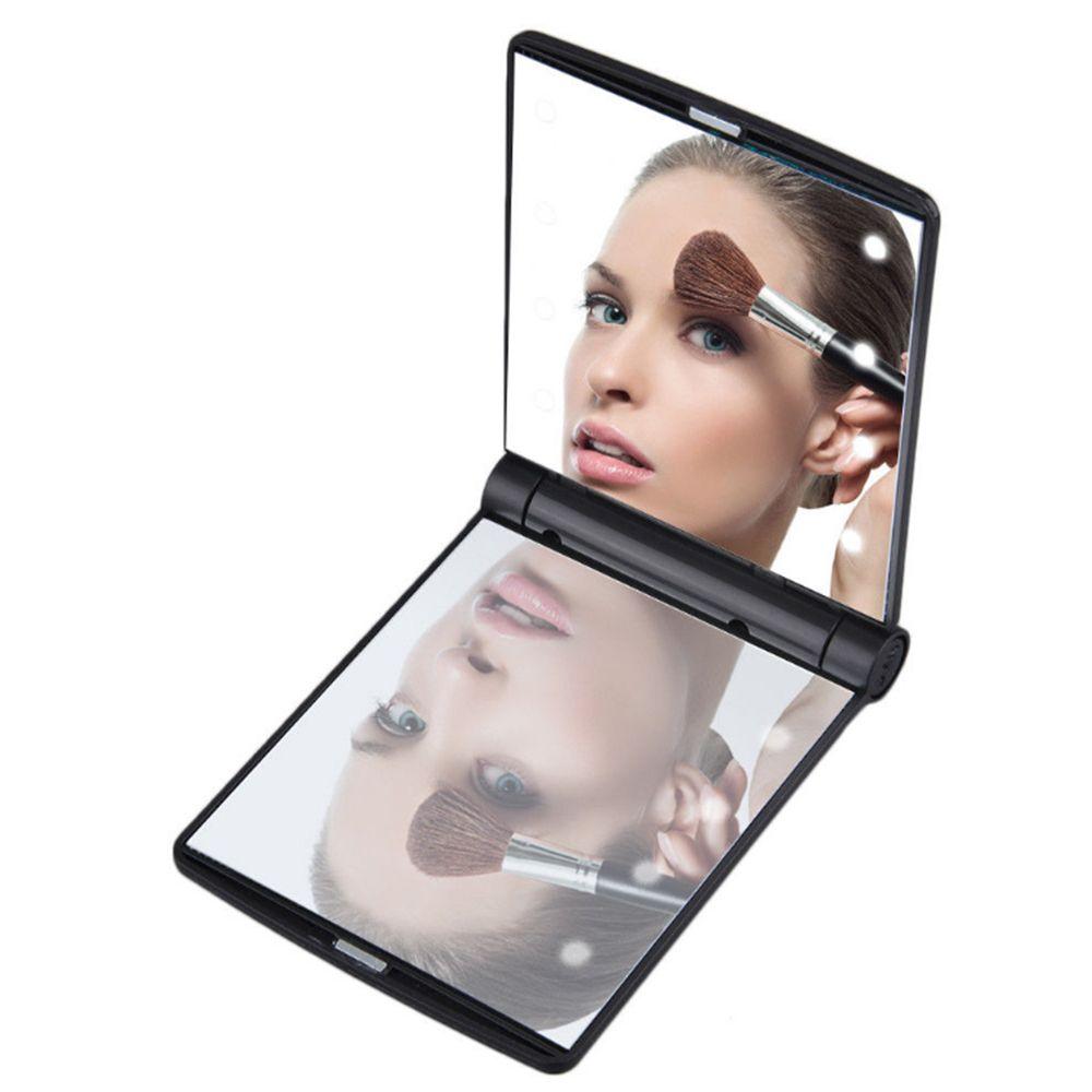 Neue Ankunft 1 Stücke Mini Taschenformat Taschenspiegel Mit 8 Led-leuchten Tragbare Falten Make-up Kosmetische Kompakte Spiegel Geeignet FüR MäNner Und Frauen Aller Altersgruppen In Allen Jahreszeiten Haut Pflege Werkzeuge