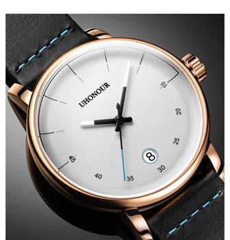 Men Automatic Mechanical Watch Japan Top 24jewels Movement Sapphire Genuine Leather Date Luxury Gift - DISCOUNT ITEM  15% OFF All Category